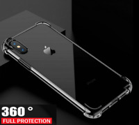 2019 360 Luxury Ultra Slim Shockproof Bumper Case Glass Cover for Apple iPhone 8