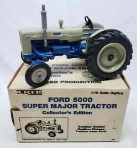 Ford 5000 Super Major Tractor By Ertl 1/16 Collectors Edition Limited Production