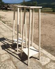 vecchia Etagere alzata colonna in legno massello portafiori o vaso vintage