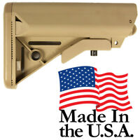 J&E Made in the USA Enhanced SOPMOD Mil-Spec Buttstock in FDE Tan PS-ST7T