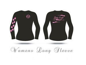 Womens Long Sleeve Hunting t shirt,Girls can't What? shirt, huntress,pink,deer