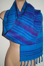 New Striped Hippy Acrylic Fleece Scarf - Fairly Traded India Ethnic Boho