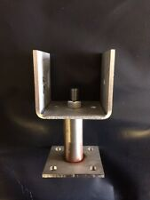 Stainless Steel Adjustable Height Timber Fence Post Shoe For 125 x 125mm Posts