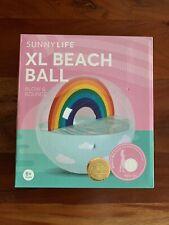 NEW SunnyLife Rainbow Inflatable Pool Backyard Beach Ball XL - SALE NIB