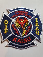 U.S. Army opération irakien Freedom Forward Operating base KALSU écusson patch