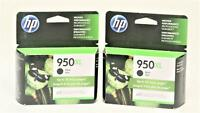 HP 950XL - Lot of 2 High Yield BLACK Ink for Officejet Pro 8100 (2019) - GENUINE
