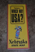 "Highlights Which Way Usa? Nebraska State Map ""Vgc"""
