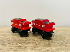 Red Sodor Line Caboose x 2 Thomas the Tank & Friends Wooden Railway Trains