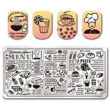 BORN PRETTY Nail Art Stamp Plate Manicure Image Template Restaurant Menu BPL-65