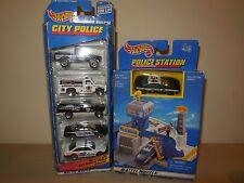 1 1998 hotwheels police station 1-5 pack police car set