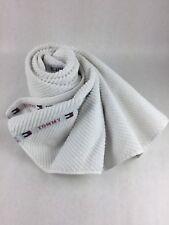 "Tommy Hilfiger White Banner Stripe Cotton Towel 25"" x 45"""