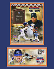 MIKE PIAZZA NY METS HOF INDUCTION DAY 12X16 USPS MATTED PHOTO & EVENT COVER