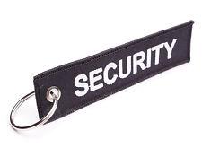 SECURITY Schlüsselanhänger - Schwarz  Sicherheit  Wachschutz  Sicherheitsdienst