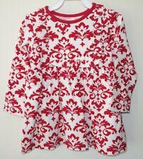 Brand New Kelly's Kids Red/White Damask Ruffle Bib Paula Dress Size 6-7 yr.
