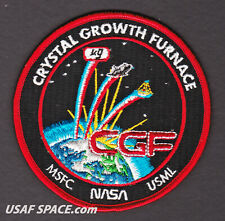 ORIGINAL - Crystal Growth Furnace - NASA MSFC USML SPACE SHUTTLE Mission PATCH