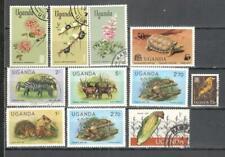 T52 - UGANDA 1965/91 - LOTTO 10 DIFFERENTI - VEDI FOTO