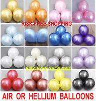 "PEARL 10"" Metallic Hellium & Air Quality Party Birthday Wedding Balloons Baloons"