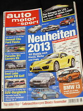 AMS 26-12+PORSCHE CARRERA RS+AUDI R8 & R18 E-TRON+BMW i3+FIESTA+CLIO+POLO+LEON