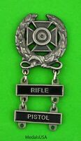 Army Expert Marksmanship Badge with RIFLE & PISTOL Qualification Bars