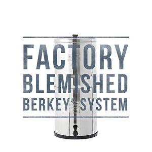 Big Berkey Water Filter w/ 2 Black Berkey Purifiers - Factory Blemished - NEW
