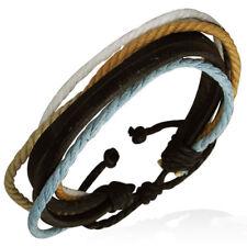 Bracelet homme en cuir multi-cordes ZENSE ZB0033 composé de 5 couleurs.