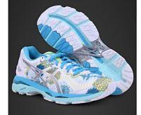 Asics Women Gel Kayano23 White/Silver/Aquarium Running Shoes,Sneakers T6A5N-0193