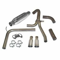 Stainless Gibson Performance Exhaust 617407B Black Elite Axle Back Dual Exhaust System