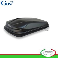 Gev E9017 - BOX BAULE UNIVERSALE PORTABAGAGLI AUTO EASY BLACK 320 LT NERO OPACO