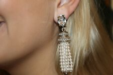 Oscar de la Renta Short Pearl Tassel Earrings -  Bridal Favorite