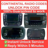 RADIO UNLOCK CODE ALFA ROMEO, FIAT, CITROEN CONTINENTAL - VP1 & VP2 + Uconnect