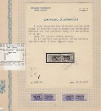 RARE Italy Scott Q18 5mm Spacing Unificato PP18A Pacchi Postali Mint With Cert