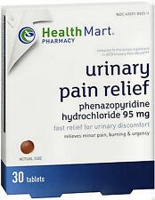 HM Urinary UTI Pain Relief Phenazopyridine 95mg 30 tablets PHARMACY FRESH!
