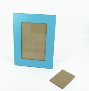 il pianeta delle idee - Cornice Legno Portafoto Azzurro 23,5x18,5 cm Made Italy