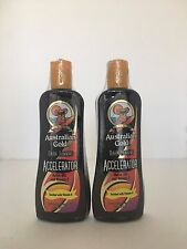 AUSTRALIAN GOLD DARK TAN ACCELERATOR TANNING BED LOTION LOT OF 2