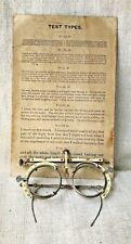 OPTOMETRIST'S ANTIQUE TRIAL LENS FRAME & EYE CHART STEAMPUNK GLASSES SMALL SIZE