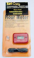 Kart Engine Hour Meter - Orange/Red