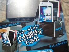 JDM HOLDS 2 PHONES CUP HOLDER NEW original JDM cup holder Slim extension in grey
