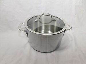 Calphalon 6 Qt Tri-Ply Stainless Steel Stock Pot With Glass Lid 806