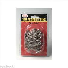 100 Piece Safety Pin Packs Sewing Survival 1st Aid Emergency BOB Zombie Prepper