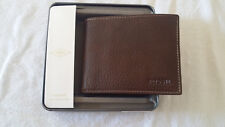 Fossil Men's GENUINE LINCOLN PASSCASE Bifold WALLET, ML3657200 Leather Brown!