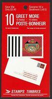 Canada BK119: 10 x 34c Greet More 1990 Christmas Booklet, Scott #1297a, VF-NH
