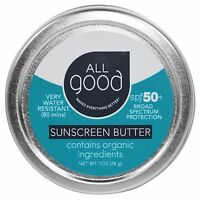 All Good Products, All Good, Sunscreen Butter, SPF 50, 1 oz