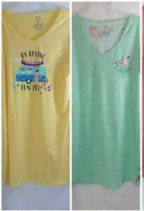 Secret Treasures Women's Graphic Short Sleeve Sleep Wear Lounge Fun Night Gowns