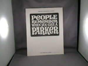 Parker Vintage l968 Specialty Advertising Catalog--17 pages