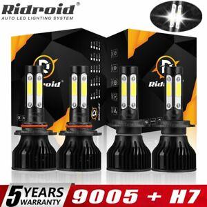 9005 H7 LED Headlight For Mazda 3 2004 2005 2006 2007 2008 2009 4pcs Combo Bulbs