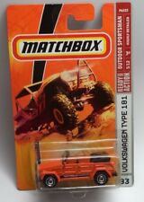 New Matchbox VW Volkswagen Thing Orange in Color Scale 1/59 Scale Mint on Card