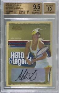 2006 Ace Authentics Heroes & Legends Gold /25 Maria Sharapova #86 BGS 9.5 Auto