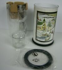 Partylite Express It Votive Luminary Candle Holder P9450 Winter Holiday Scene