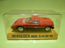 JOAL 117 MERCEDES BENZ C111 - ORANGE 1:43 - RARE SELTEN - GOOD IN BOX