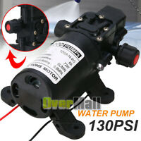 6L/Min 12V 70W High Pressure Micro Diaphragm Water Pump 130Psi Car Caravan Boat